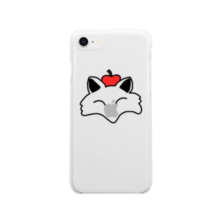 きつさかグッズ(文字なし) Clear smartphone cases