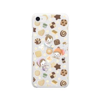 ムスメら(クッキー)  Clear smartphone cases