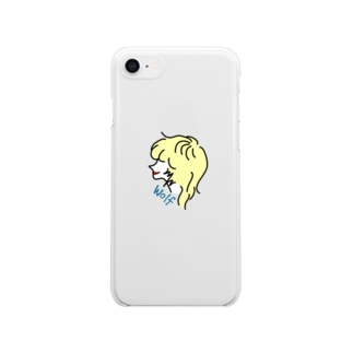 """""""wolf girl"""" Clear smartphone cases"""