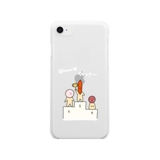 winnnerはウィンナースマホケース Clear smartphone cases