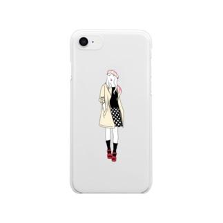Chocolat フランボワーズ Clear smartphone cases