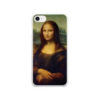 現代風モナリザ Clear smartphone cases