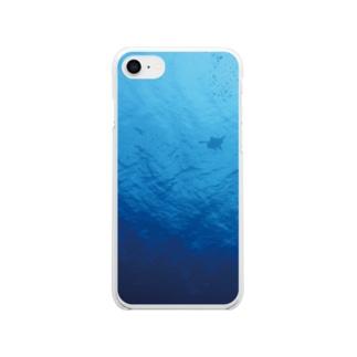 うみがめ Clear smartphone cases