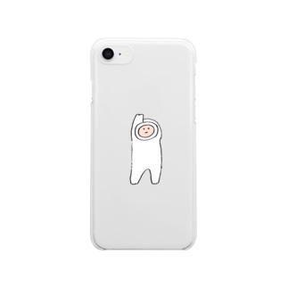 もち人間 Clear smartphone cases