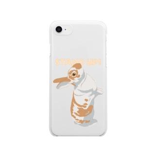 うたっちミニレッキスさん/カラー/前面 Clear smartphone cases