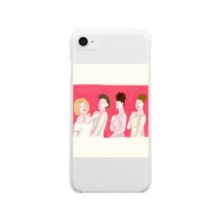 ブライズメイド👩🏻🤝👩🏼👩🏽🤝👩🏻 Clear smartphone cases