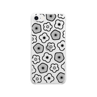 Flower pattern お花柄 Clear smartphone cases