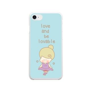Kana's yururi ギャラリーの愛し、愛らしくあれ。 Clear smartphone cases