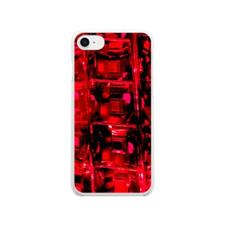 てんとう虫のレッドクリスタル Clear Smartphone Case