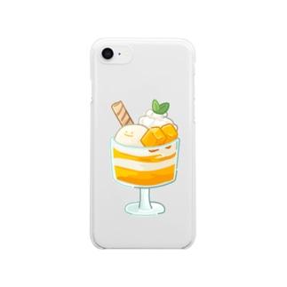 にくらしいマンゴーパフェ Clear smartphone cases