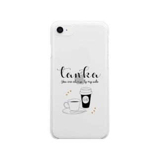 tanka/コーヒー クリアスマートフォンケース