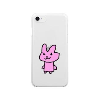 わるいウサギさん Clear smartphone cases
