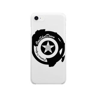 キャプテン☆アフリカ アフリカンシールド(シングルカラー) クリアスマートフォンケース