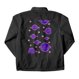 宇宙の惑星 コーチジャケット