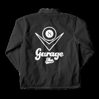 8garage SUZURI SHOPの8ガレージ コーチジャケット Coach Jacketの裏面
