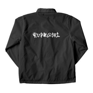 RUDEGIRL/black コーチジャケット