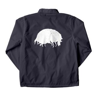 横蝦 (white) コーチジャケット
