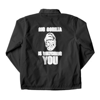 BIG GORILLA IS WATCHING YOU(白字) Coach Jacket