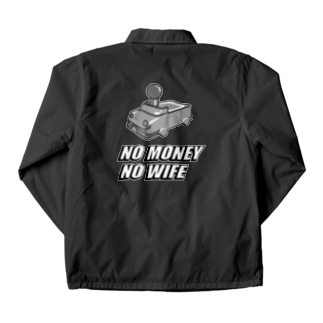 NO MONEY NO LIFE人生 グレー Coach Jacket