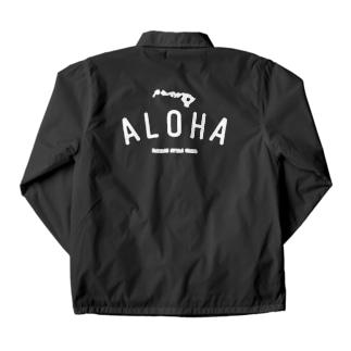 ALOHA ISLANDS  WHT LOGO Coach Jacket