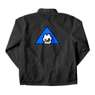 フリーメソメソ(Blue) Coach Jacket