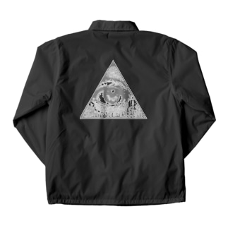 Illuminati eye triangle (gry) Coach Jacket