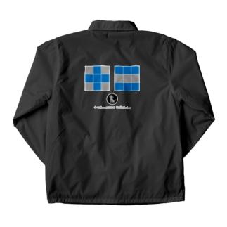 +edamametoichi- No.02 blue Coach Jacket