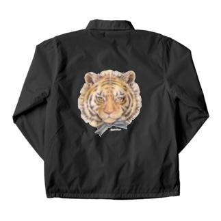 トラはかわいいです 文字なし Coach Jacket