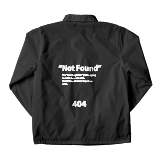 404 Not Found Wearの404 Not Found - Coaches Jacket  Coach Jacketの裏面
