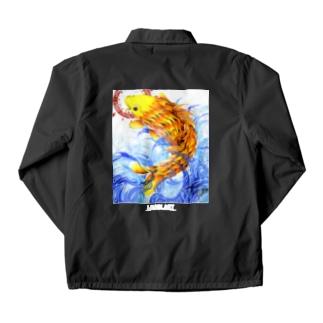 鯉図 黒地用 Coach Jacket