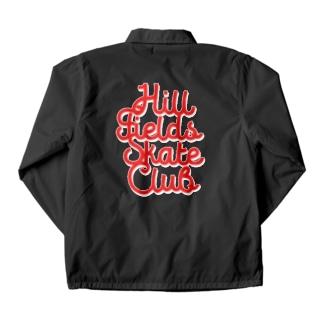 Hill Fields Skate Club_RED Coach Jacket