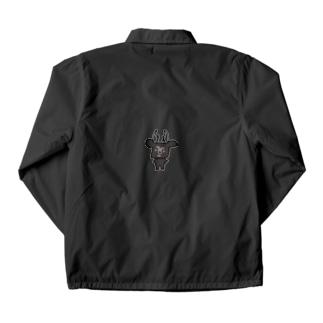 黒BUSHIKA Coach Jacket