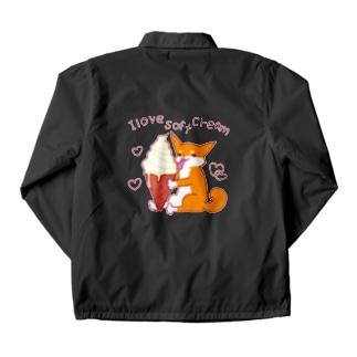 ソフトクリームと柴犬さん(赤柴) Coach Jacket