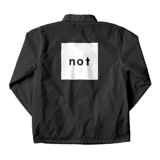 notのnot_logo wh Coach Jacketの裏面