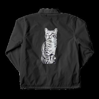 ちばっちょ【ち畳工房&猫ねこパラダイス】のトラ猫トラ君 Coach Jacket