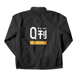 Qrio TechBook Q刊(キューカン) 2019ロゴ(黒背景用) Coach Jacket