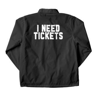 I NEED TICKETS - WHITE LOGO Coach Jacket