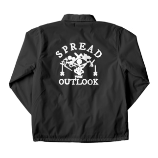 SPREAD your OUTLOOK -WHITE PRINT- Coach Jacket