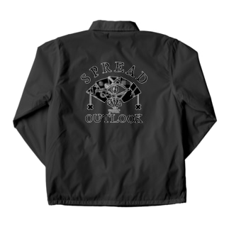 SPREAD your OUTLOOK -BLACK PRINT- Coach Jacket
