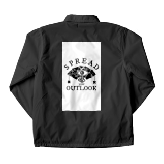 SPREAD your OUTLOOK -SQUARE PRINT- Coach Jacket