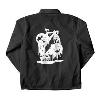 melted bikes #1 (white ink) Coach Jacket