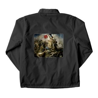 民衆を導く自由の女神 / ウジェーヌ・ドラクロワ(La Liberte guidant le peuple 1830) Coach Jacket