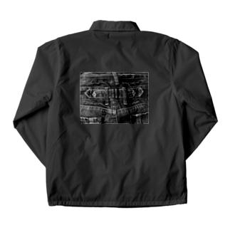 Black Denim Coach Jacket