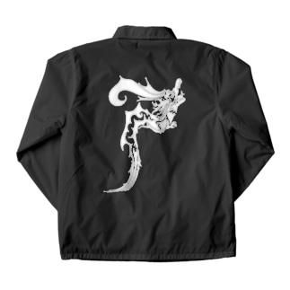 ドラゴン3塗り絵デザイン Coach Jacket