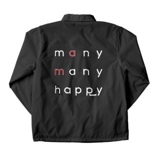 many many happy(白抜き文字) Coach Jacket