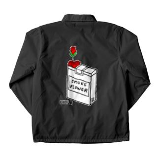 cigarette  flower バックプリント Coach Jacket