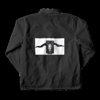 黒山羊の山羊の頭蓋骨のイラスト Coach Jacket