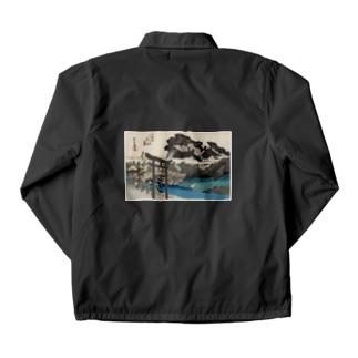 藤澤 (遊行寺) 東海道五十三次 (保永堂版) 歌川広重 Coach Jacket
