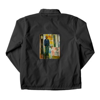 ムンク / 1943 / Self-portrait. Between the clock and the bed / Edvard Munch Coach Jacket