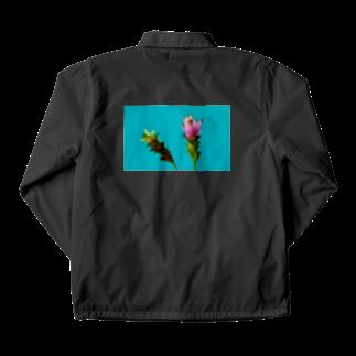 CALAKUEN(SOIL)の<back print> Curcuma alismatifolia - blue Coach Jacket